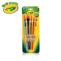 绘儿乐crayola幼儿童画刷套装5支美术绘画画涂鸦笔刷套装05-3506