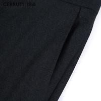 CERRUTI 1881 C3635EI031 男士纯羊毛直筒西裤 墨绿 48
