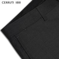 CERRUTI 1881 C3635EM091 男士纯羊毛直筒条纹西裤