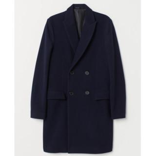 H&M HM0635517 男士羊毛混纺双排扣大衣