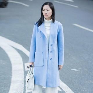 AMII 11582058 女士中长款羊毛混纺大衣