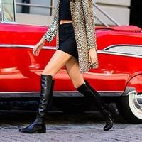 STUART WEITZMAN 5050系列 女士低跟过膝长靴