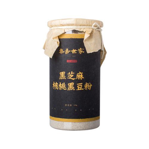 黍香世家 黑芝麻核桃黑豆粉 500g 瓶装