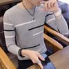 冲锋道 男士2018年秋冬新款时尚拼接条纹保暖毛衣 *2件 99元(合49.5元/件)