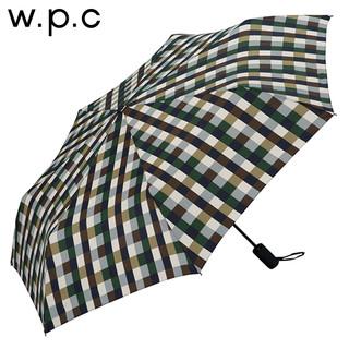 w.p.c MSJ系列 安全开合全自动三折晴雨伞 色块格子款
