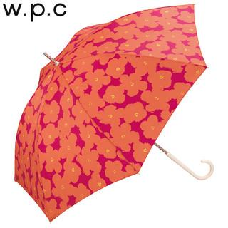 w.p.c 优雅花朵长柄晴雨伞 花朵印刷款 深蓝