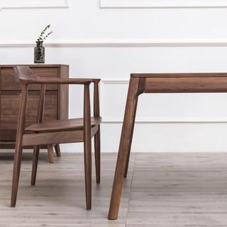 及木家具 YZ039 北欧简约全实木餐椅