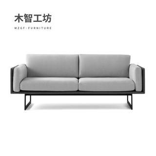 MZGF 木智工坊 M45 现代简约皮布艺沙发