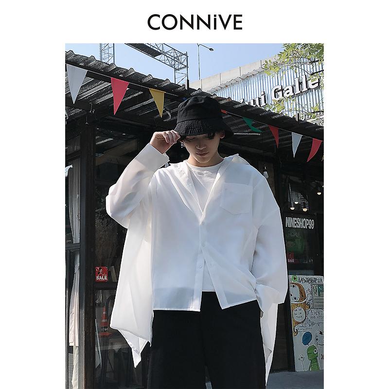 Connive 纵容 7CY005 男士纯色OV风甩袖款长袖衬衫