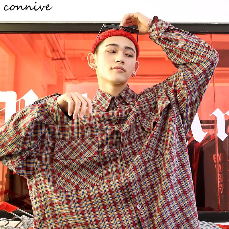 Connive 纵容 7CY072 男士长袖格子衬衫