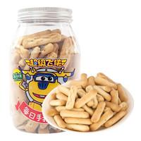 捷客超级飞侠每日手指饼干海苔味 儿童饼干 宝宝零食 罐装105g *11件