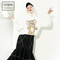 Chris by Christopher Bu卜柯文 A18AW77 汤姆猫和杰利鼠连帽卫衣 Jerry款