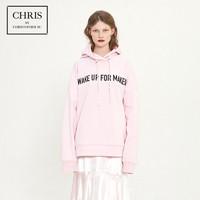 Chris by Christopher Bu卜柯文 A18EA58 女士字母连帽卫衣
