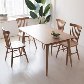 爱家佳 GH781 橡木餐桌椅组合