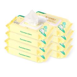 PurCotton 全棉时代 婴幼儿清洁专用纯棉湿巾 80片/包  *8件
