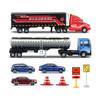 美驰图 运输车套装男孩玩具模型  公路运输A系列 带油罐车 *2件 100元(合50元/件)