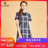 ELAND衣恋18年秋季新款学院风减龄可拆卸领结连衣裙EEOW83758M 499元