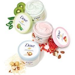 Dove 多芬 冰激凌身体磨砂膏 石榴籽和乳木果味225g*4瓶装 *2件