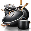 爱仕达 锅具套装 新不粘炒锅煎锅汤锅奶锅套装组合四件套PL04C1WG 919元