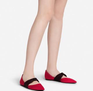 CHARLES & KEITH CK1-70380635 女士单鞋 (红色、35)
