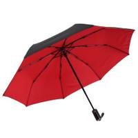 MAYDU 美度 M3321 全自动三折晴雨伞  红色
