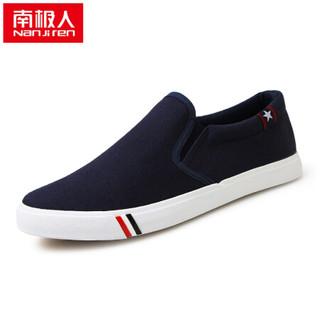 Nan ji ren 南极人 17100NJ6601 男士帆布鞋 蓝色 39码