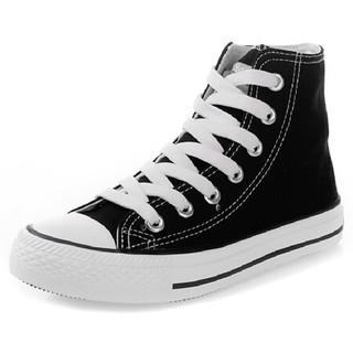WARRIOR 回力 WXY473 中性高帮帆布鞋 黑色 37码
