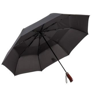 美度(MAYDU)双层防风晴雨伞全自动三折男士商务雨伞  M3118黑色 *3件