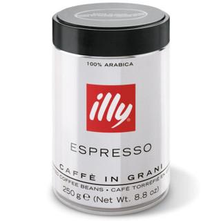 illy 意利 咖啡豆 意式浓缩 深度烘培 250g/罐 *2件