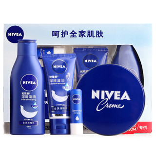 NIVEA 妮维雅 冬季呵护特供装(润肤霜+乳液+手霜+唇膏)