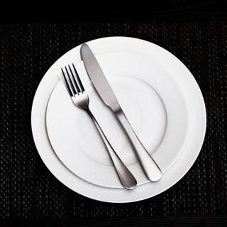 乐享 纯白陶瓷餐具套装 4件套