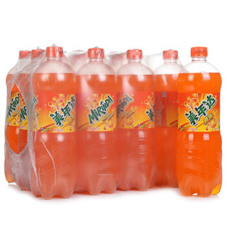 Mirinda 美年达 橙味 果味型汽水 1L*12瓶 便携装