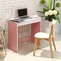 雅美乐  Y243 简约板式电脑桌 浪漫粉