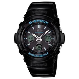 CASIO 卡西欧 G-SHOCK系列 AWG-M100BA-1A 男士太阳能电波腕表