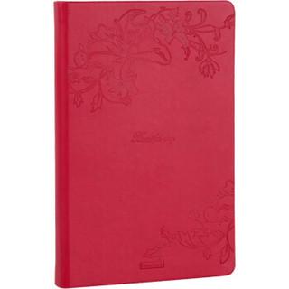 广博(GuangBo)A5皮面记事本子文具笔记本日记本 128张单本装红色FB60316 *10件