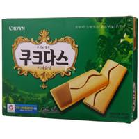 韩国进口  CROWN 可瑞安 咖啡蛋卷 144g *10件