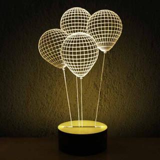 良美惠 3D视觉效果氛围灯 创意夜灯 气球