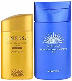 Shiseido 资生堂 SPF50+安热沙防晒露 金瓶+蓝瓶