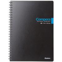 Comix 齐心 CPA5607 双螺旋PP面笔记本 A5 黑色  *5件