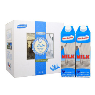 White Smoothie 优雅牧场 超高温灭菌低脂牛奶1L*6