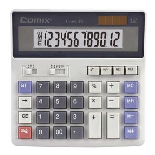 齐心(Comix)12位财务利器电脑按键计算器中号 办公文具 C-2035