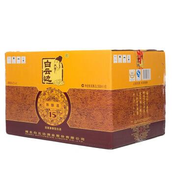 白云边 十五年陈酿 浓酱兼香型白酒 42度 500ml*6瓶