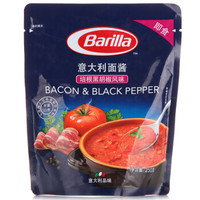 Barilla 百味来 培根黑胡椒风味 意大利面酱 250g