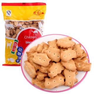青食 儿童铁锌动物饼干 300g