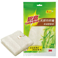 3M 思高 天然竹纤维抗油型抹布 1片装
