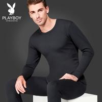 PLAYBOY 花花公子 D8819Z 保暖内衣套装 (V领深麻灰、XL)
