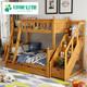 美式儿童床高低床子母床全实木双层床男孩女孩多功能上下铺母子床
