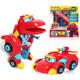 灵动创想(LDCX)帮帮龙出动大版迷你变形发声系列机器人套装男孩女孩儿童动漫玩具 恐龙探险队 大版发声变形系列-韦斯5901