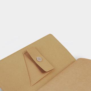 不纸如此 原创水洗牛皮纸卡包 浅棕色