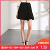 百图 2018春装新款韩版不规则纯色短裙显瘦半身裙a字裙1803T50 139元